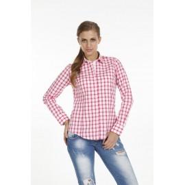 Dames Blouse Pontto Pink-Line - 9012 Karo Rose