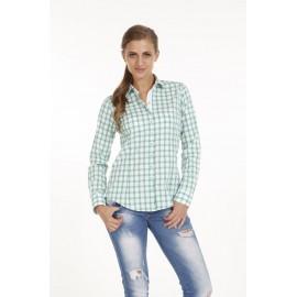 Dames Blouse Pontto Pink-Line - 9012 Karo Green