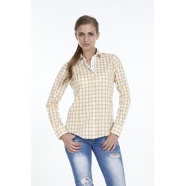 Dames Blouse Pontto Pink-Line - 9012 Karo Yellow