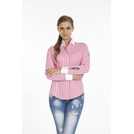 Dames Blouse Pontto Pink-Line - 9013 Karo Rose