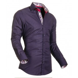 Heren Overhemd Styleover - 5002 Pixelkaro Lilac
